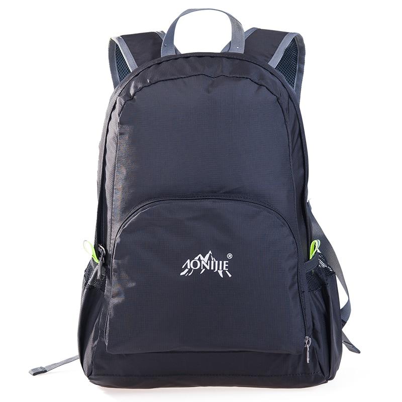 AONIJIE Ерлер әйелдер жеңіл жеңіл спорттық рюкзактар таспалы нейлон жаяу серуендеу альпинизм тренажер залы фитнесс саяхат сөмкесі