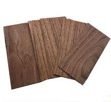 10 pçs/lote. 1mm * 55mm * 150mm Natural noz preta verniz folha Edifício modelo artesanato marcador pedaço de madeira sólida