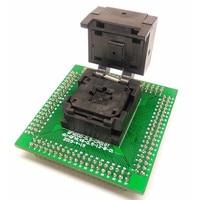 QFN44 MLF44 WLCSP44 to DIP44 SMT32 Single Board Programming Socket Pitch 0.4mm IC Size 6X6mm Test Socket Adapter
