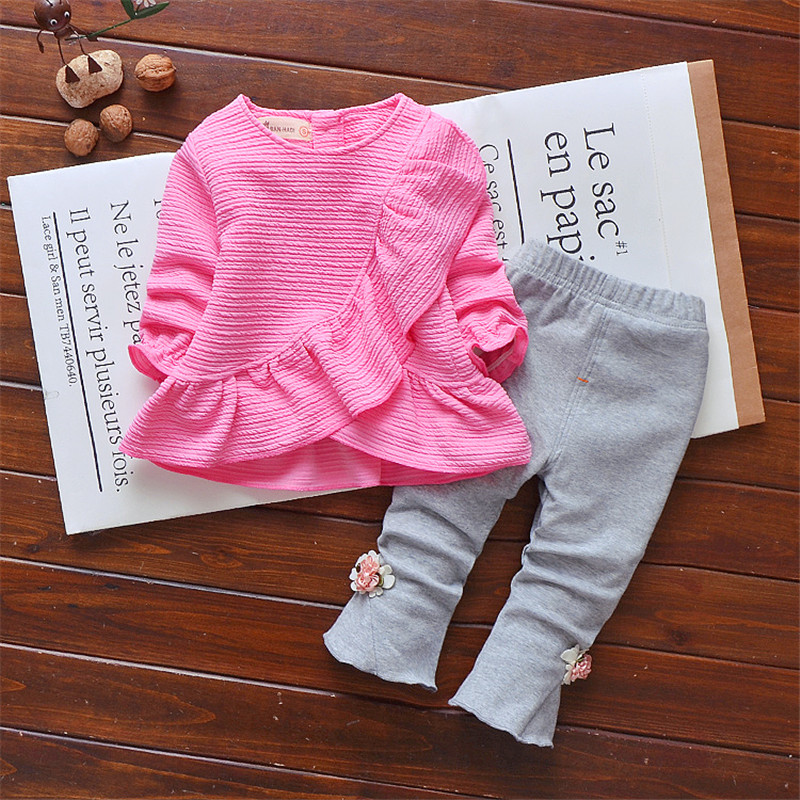 Girls Spring Outfits 2018 Baby Girls Clothing Sets For Girl Long Sleeve Summer Clothes Kids Tracksuit Children 2 piece 3 years 3pcs set cute baby girls clothes 2018 spring toddler kids denim long t shirt leopard skirt outfits children girl clothing sets