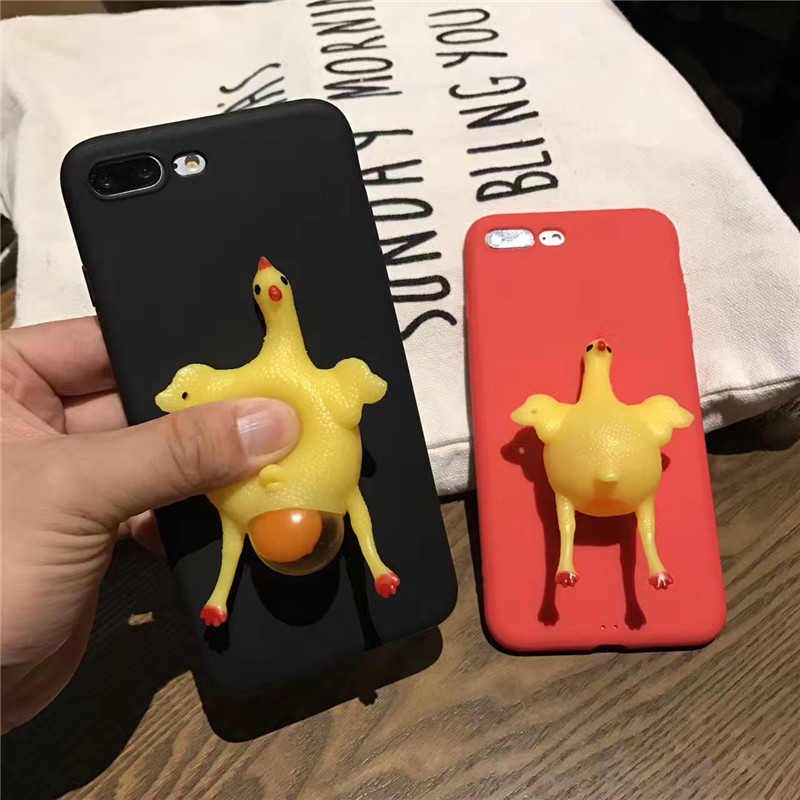 For iPhone 5s 5 Squeeze Chicken Lay Egg Squishy Phone Case Stress Relieve TPU Cover For iPhone