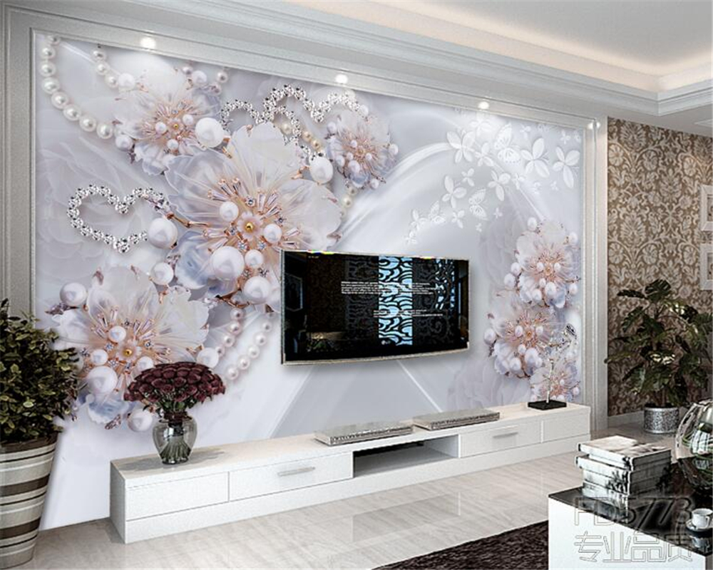 beibehang High - grade exquisite jewelry flowers living TV backdrop 3D wallpapers home decoration murals wallpaper for walls 3 d beibehang high grade large scale murals chinese classical seal calligraphy and painting wallpaper hotel tv sofa backdrop