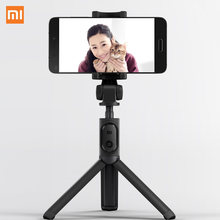 Original Xiaomi Foldable Tripod Selfie Stick Bluetooth Selfiestick With Wireless Shutter Selfie Stick For iPhone Android Xiaomi(China)
