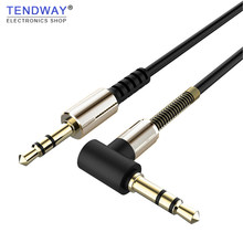 3.5mm Jack Aux Extension Cable Male to Male Audio Cable 3.5mm to type-c Audio Cable Cord with Spring Protector for Car Headphone(China)
