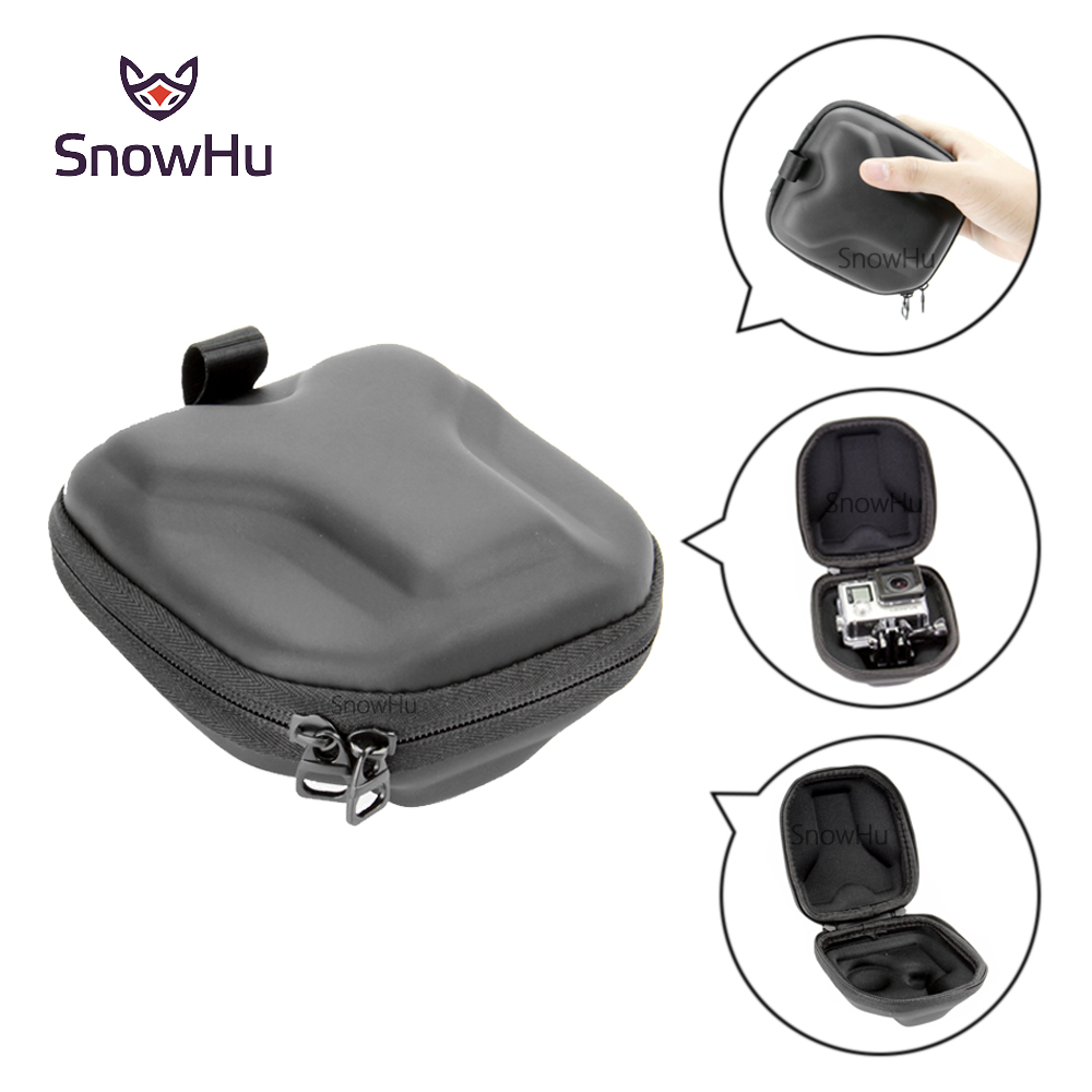 все цены на SnowHu For GoPro Camera Bag Small Bag Case Protective Camera Protector soft Bag Case for Go Pro Hero 6 5 4 3+ xiaomi yi GP39
