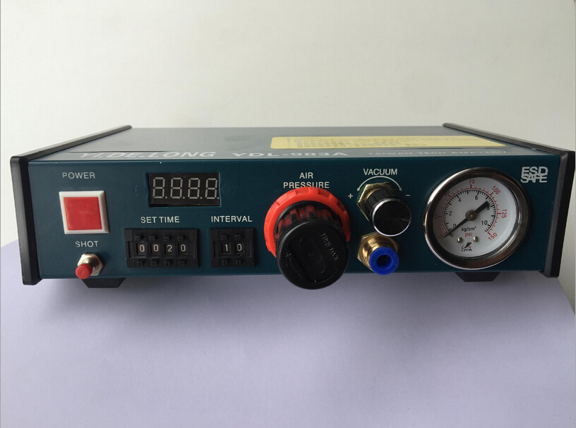 YDL - 983A Auto Glue Dispenser Solder Paste Liquid Controller Dropper  110v/220V 1 set auto glue dispenser solder paste liquid controller dropper ydl 983a dispensing system 110v