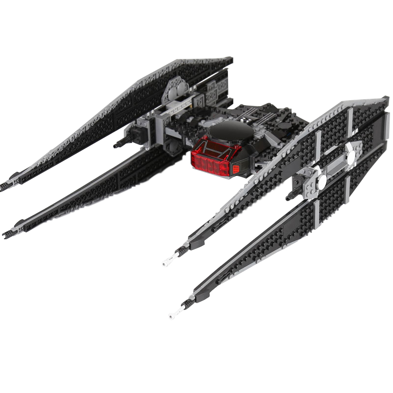 Lepin 05127 Star Wars Kylo Ren's Tie Fighter Model Building Blocks Bricks Educational Toy For Children Gifts 75179 Legoingly new 1685pcs lepin 05036 1685pcs star series tie building fighter educational blocks bricks toys compatible with 75095 wars