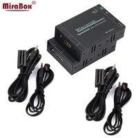 MiraBox 60 м 4 К HDMI Extender Поддержка HD 2160P @ 30 Гц EDID Технология Двусторонняя ИК пульт управление, cat5/Cat6 RJ45 HDMI extender