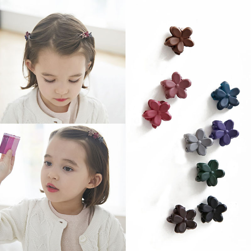 50 PCS/LOT Small Flower Baby Kids Hair Clips Hair Claws Lovely Child Cute Hair Accessories Fashion For Student Free Shipping 1 set new girls colorful carton hair clips small crabs hair claw clips mini hairpin kids hair ornaments claw clip