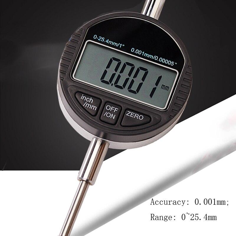 0-12.7mm digital indicator 0-25.4mm (default) 0.001 digital dial indicator electronic dial gauge Indicator table