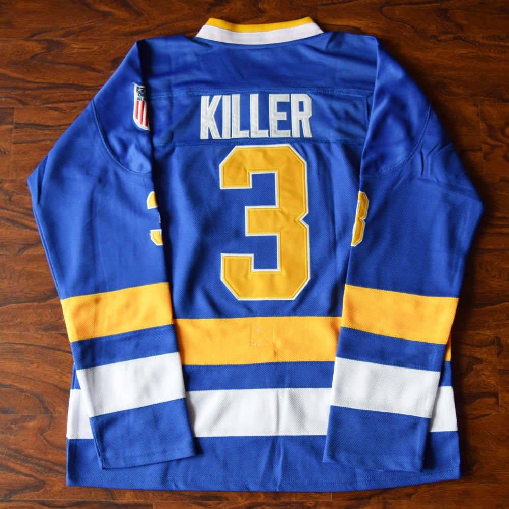 Мм masmig Дэйв killer Карлсон #3 воротам чарльстаун Хоккей Джерси сшитые Синий
