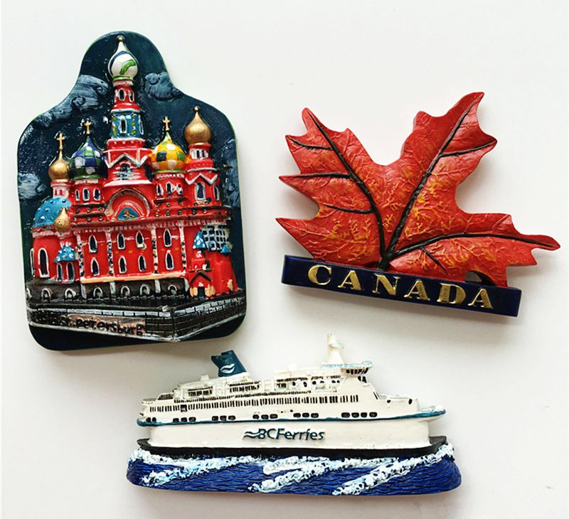 ᗕCanada Maple Leaf barco San Petersburgo, Rusia 3D imán de nevera ...
