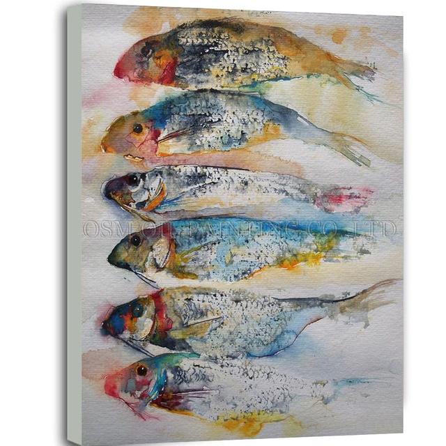 Artiste la main sans cadre peinture l 39 huile de poisson for Materiel peinture a l huile