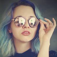 Steampunk Vintage Sunglasses Women Retro Round Glasses Points Constructor Anti Glare Spectacles Frame Oculos De Sol