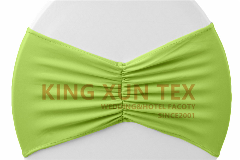 Задний гофрированный лайкровый стул полоса стрейч Подвязка из спандекса для стула подходит для свадьбы украшение для стула - Цвет: sage green