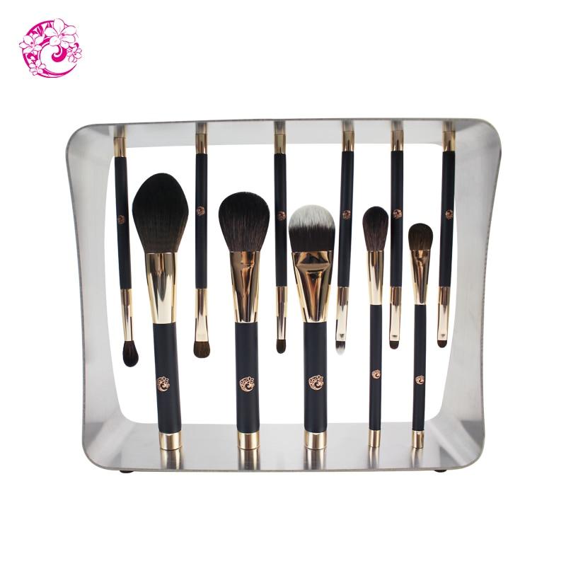 ENERGY Brand Professional 11pcs Magic Makeup Goat Hair Magnet Brush Set Brochas Maquillaje Pinceaux Maquillage cs2