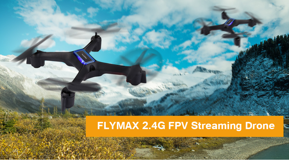 Flymax 2 WiFi Drone Kit With 4 Bright LED Lights Illuminate for Easy Visibility 1