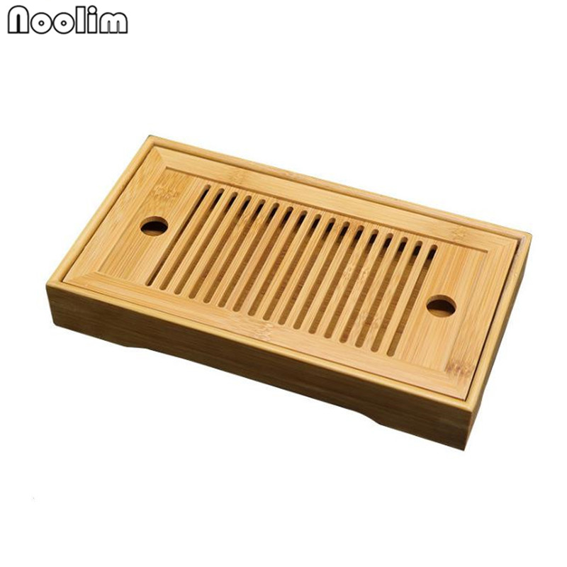 Bamboo Tea Trays Table With Drain Rack Chinese Tea Serving Tray Set  Kung Fu Tea Accessories Drinkware