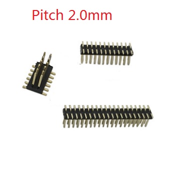 100pcs Pitch 2.0 mm PCB Male Header Dual Row Pin Header 4 6 8 9 10 12 14 16 20 24 26 30 40 50 60 80 Vertical Surface Mount SMD