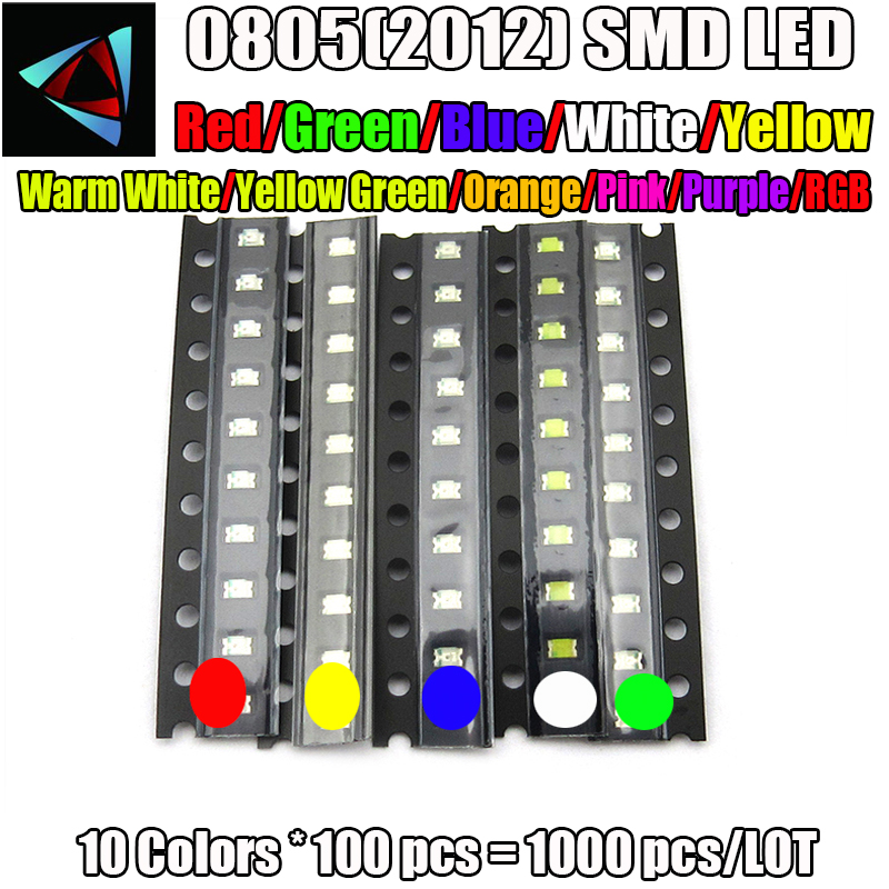 Diodes Electronic Components & Supplies Honesty 500pcs Smd Led 5050 Diodes Light Emitting Diodo Smd 5050 Led Beads Super Bright White Red Blue Yellow Jade-green Rgb
