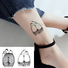 Waterproof Temporary Tattoo Sticker Sexy Buttocks Tatto Flash Tattoo Hips Fake Tatoo Tatouage Body Art For Girl Men Women(China)