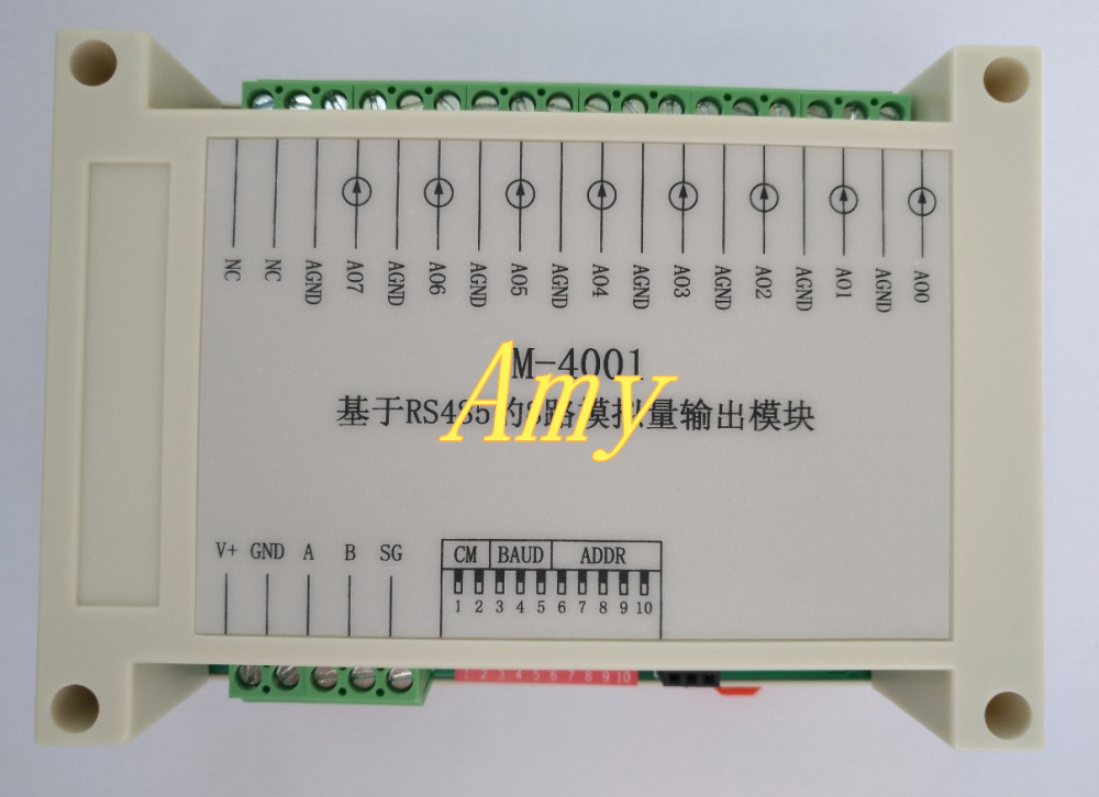 8 Way 0~5V Analog Output AO Module RS485 Communication IO Board -Modubus RTU Controller DAC