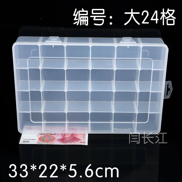 24 Caja de plástico original de Pp Caja de hardware de celosía Caja - Almacenamiento de herramientas - foto 1