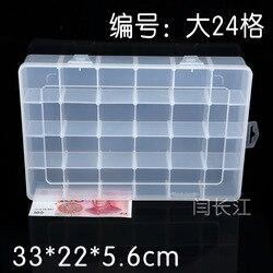 24 Oryginalny Pp Plastikowe Pudełko Pudełko Przezroczyste Plastikowe Pudełko Pudełko Sprzęt Kraty Kraty