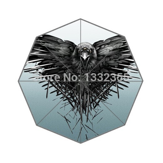 Fashion Design Umbrella Custom Black Eagle Folding Umbrella For Man And Women Free Shipping UPC-140