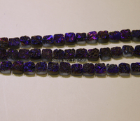 Statement for Women Purple Rose Titanium Druzy Stone Coin Beads Pendants Drusy Necklace Quartz Flat Round Beads Jewelry Making
