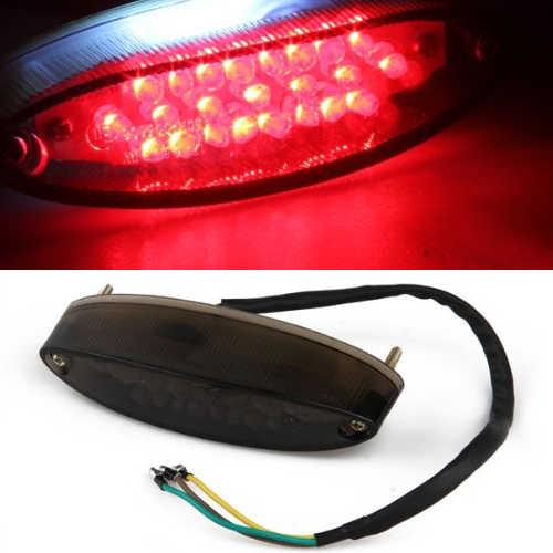 12V 28 LED Luz trasera de la motocicleta LED trasera Super brillante ABS de moda Pl/ástico Rojo LED Freno de cola