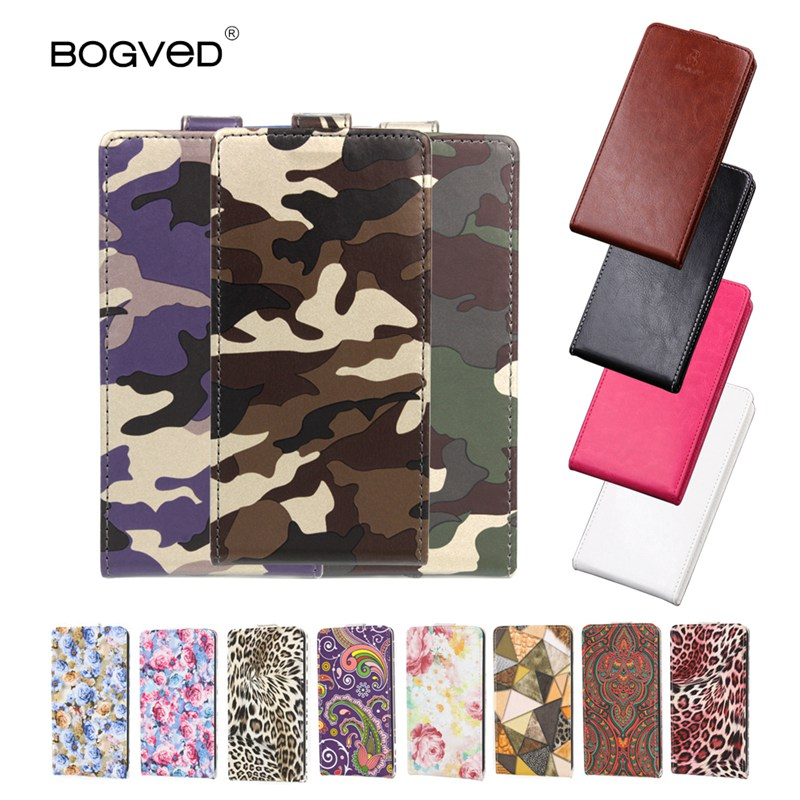 BOGVED High Quality PU Leather Skin Phone Case Flip Cover fo