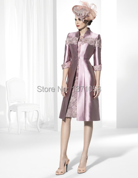 Online Get Cheap Mother of The Bride Dress with Long Coat ...