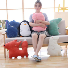 Lovely Forest Animal Short Plush Toy Stuffed Pillow Soothing Doll Creative Gifts For Kids
