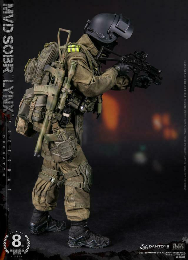 full set soldier doll For Collection  DAMTOYS 78059 1/6th 8th Anniversary Edition RUSSIAN SPETSNAZ MVD SOBR LYNX Toy 1