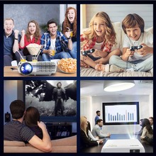 Proyectores de cine en casa CRENOVA 6500 lúmenes para películas Full HD 4 K * 2 k con Android 6,0 OS WIFI Proyector Led Bluetooth