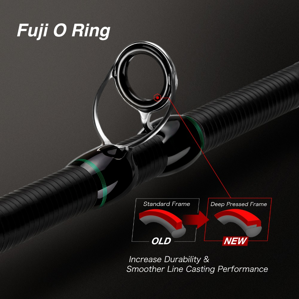 Image 3 - Piscifun Serpent Casting Rod Two Piece Baitcasting Rod IM7 Toray 