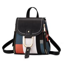 Litthing Fashion Casual  Leather Women Backpack Backpacks Female Larger School Retro Pannelled Shoulder Bag
