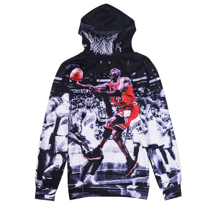 dca51b1fd ... Jordan Print 3D Men Hoodies And Sweatshirts Fashion Men's Clothing  Loose Hooded Sweats Tops Unisex Coats ...
