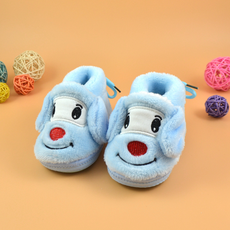 Winter Warm Baby Shoes Infant First Walkers Toddler Newborn Snow Knitted Boots Cute Cartoon Bear Girl Boy Shoes For 0-18M DS19