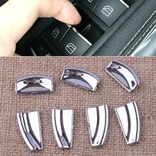 Автомобильный интерьер, дверь, окно, кнопка подъема, накладка, наклейки, подходят для Mercedes Benz E W212 C W204 GLA X204 ML GL W246 X166 класс