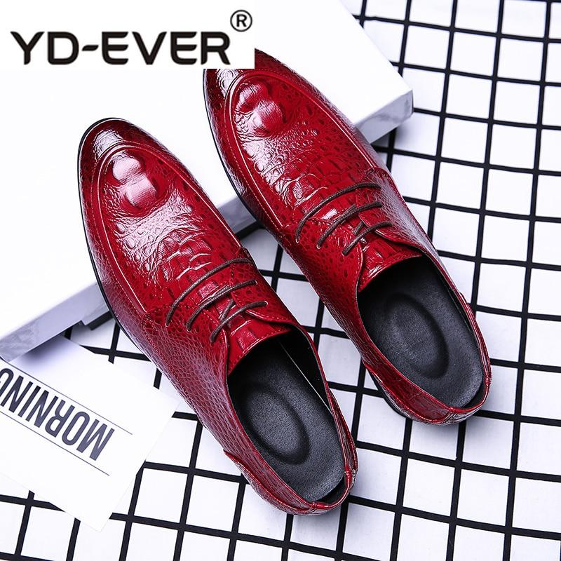 slip red Size black Do Plus Couro Italiano De lace Cobra Homens Luxo lace On Escritório slip Up black Apontado Formal Pele Dedo Vestido Red Dos Negócios Sapatos Estilo Up On Casamento Barco Fd1xqwd