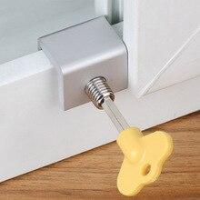 8 комплектов безопасности раздвижные створки задвижки оконные замки стопор с ключами для домашнего окна алюминиевый сплав дверной рамы замок безопасности
