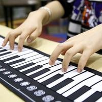 Foldable 49 Keys Electronic USB Piano Soft Organ Keyboard Silicone Digital Roll Up Keyboard Piano Christmas