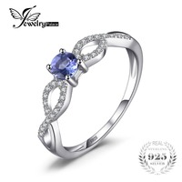 JewelryPalace Classic 0 43ct Natural Tanzanite Ring Genuine 925 Sterling Silver Engagement Rings For Women Gemstone
