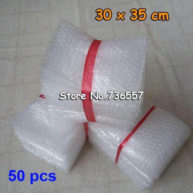 50pcs New Bubble Bags 30*35cm Transparent Paded Envelopes Wrap Bags Pouches Packaging PE Mailer Packing Air Bubble Bag