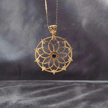ANI 18K Yellow Gold Pendant Necklace Blue Sapphire Real Natural Diamond Fine Gemstone Jewelry Women Engagement Necklace Gift недорого