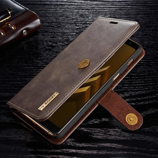 Для samsung Galaxy S9/S9 Плюс/A8 плюс 2018 Роскошные Съемная Магнитный Съемный искусственная кожа слота бумажник чехол