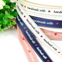 5 jardas 16mm fita de cetim de seda impresso design feito à mão para decoração de casamento presente embalagem cinto acessórios costura