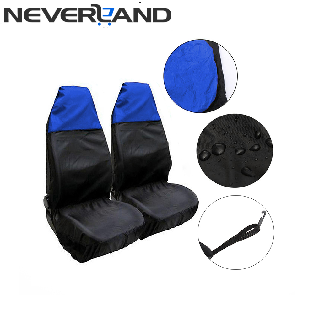 New Arrival Waterproof Removable Car Front Automobiles Seat Cover Sweat Sand Sports Carseat Protector Blue Free
